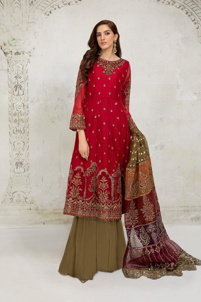 MARIA B   EVENING WEAR Collection   Suit Red SF-EA21-12