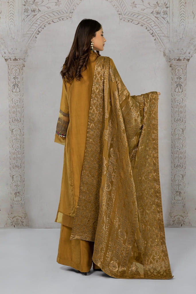 MARIA B | EVENING WEAR Collection | Suit Mustard SF-EA21-13