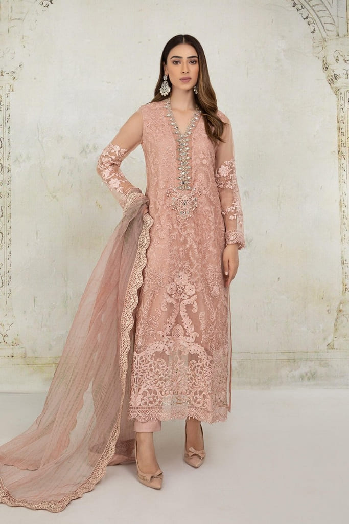 MARIA B | EVENING WEAR Collection | Suit Peach SF-EA21-20
