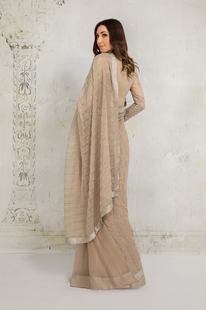MARIA B | EVENING WEAR Collection | Suit Beige SF-EA21-21