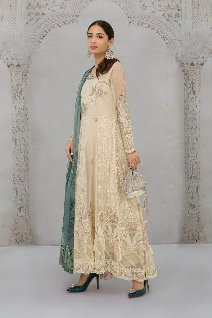 MARIA B   EVENING WEAR Collection   Suit Off White SF-EF21-20