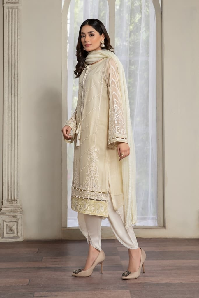 MARIA B   EVENING WEAR Collection   Suit Yellow SF-EF21-12