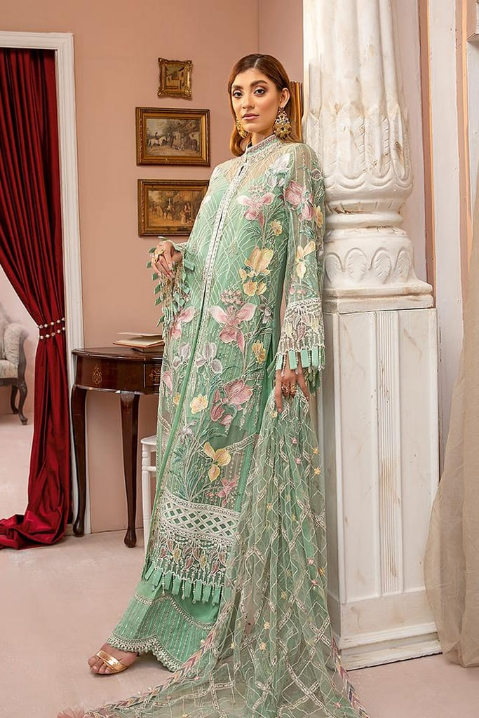 ADAN'S LIBAS   LUXULIA EMBROIDERED CHIFFON Collection   D#8 Dramatic Thrive