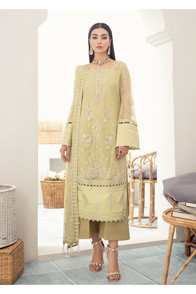 GULAAL | PREMIUM EMBROIDERED CHIFFON Collection'21 | Suit D-8