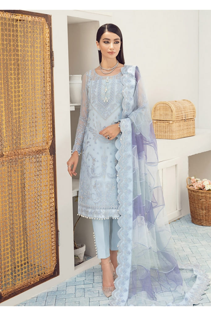 GULAAL   PREMIUM EMBROIDERED CHIFFON Collection'21   Suit D-5