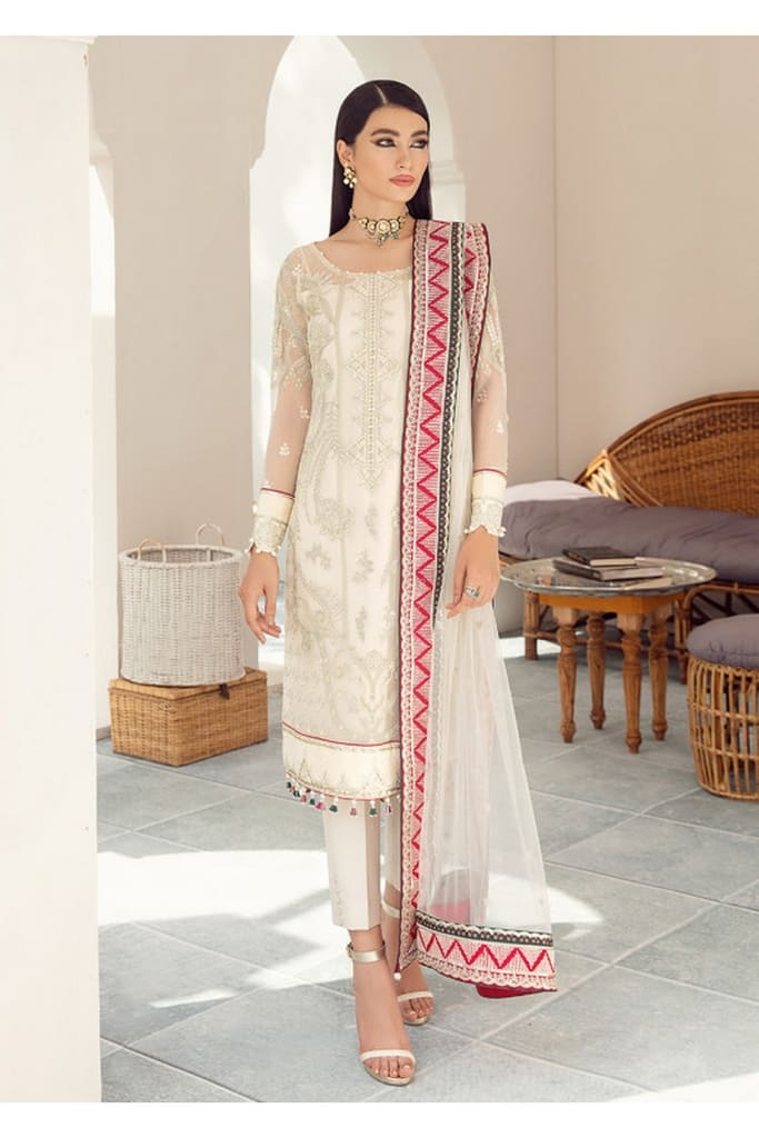 GULAAL   PREMIUM EMBROIDERED CHIFFON Collection'21   Suit D-7