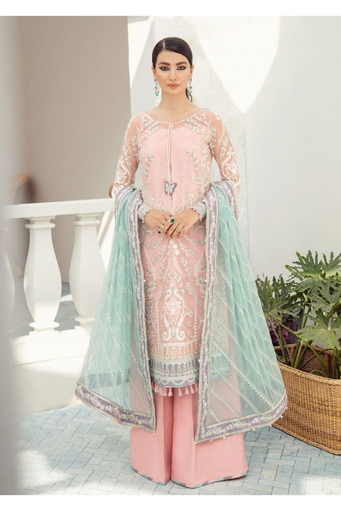 GULAAL | PREMIUM EMBROIDERED CHIFFON Collection'21 | Suit D-4