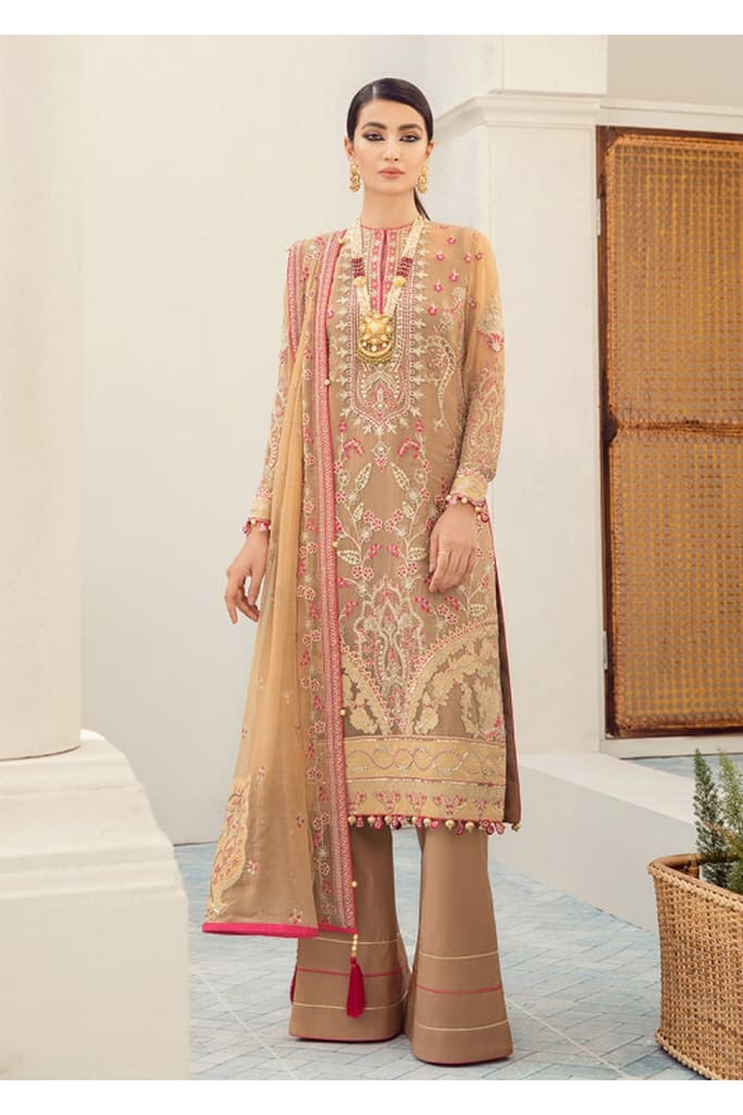 GULAAL   PREMIUM EMBROIDERED CHIFFON Collection'21   Suit D-3