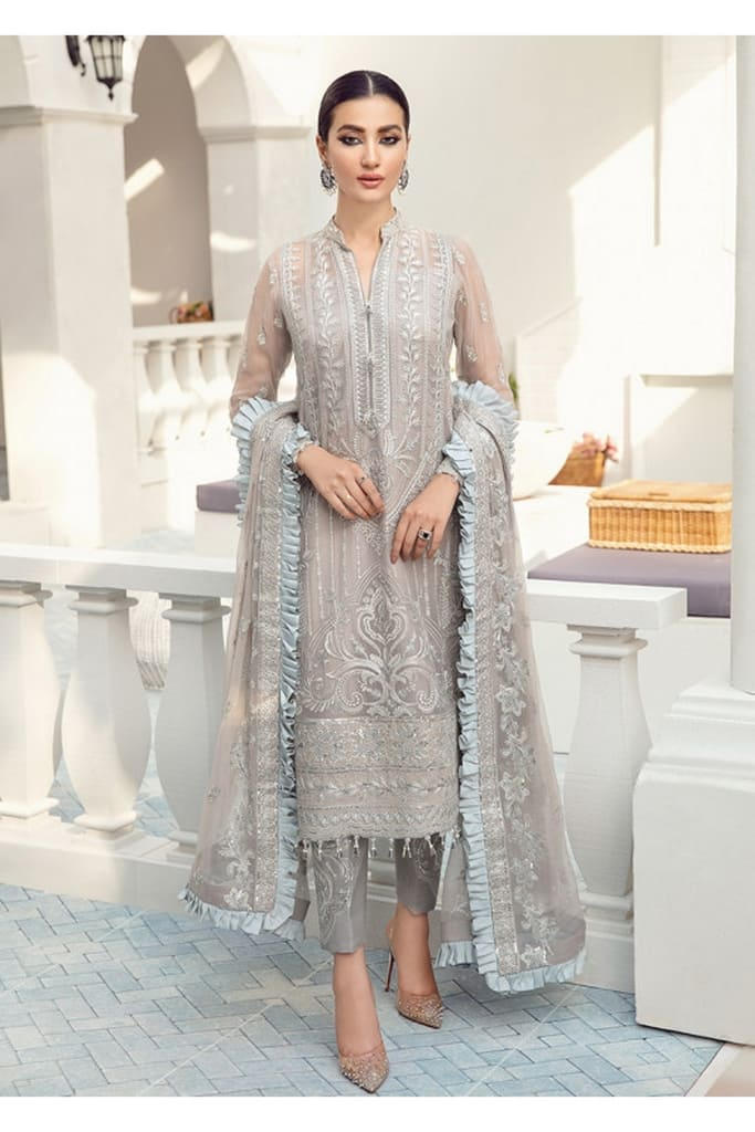 GULAAL | PREMIUM EMBROIDERED CHIFFON Collection'21 | Suit D-2