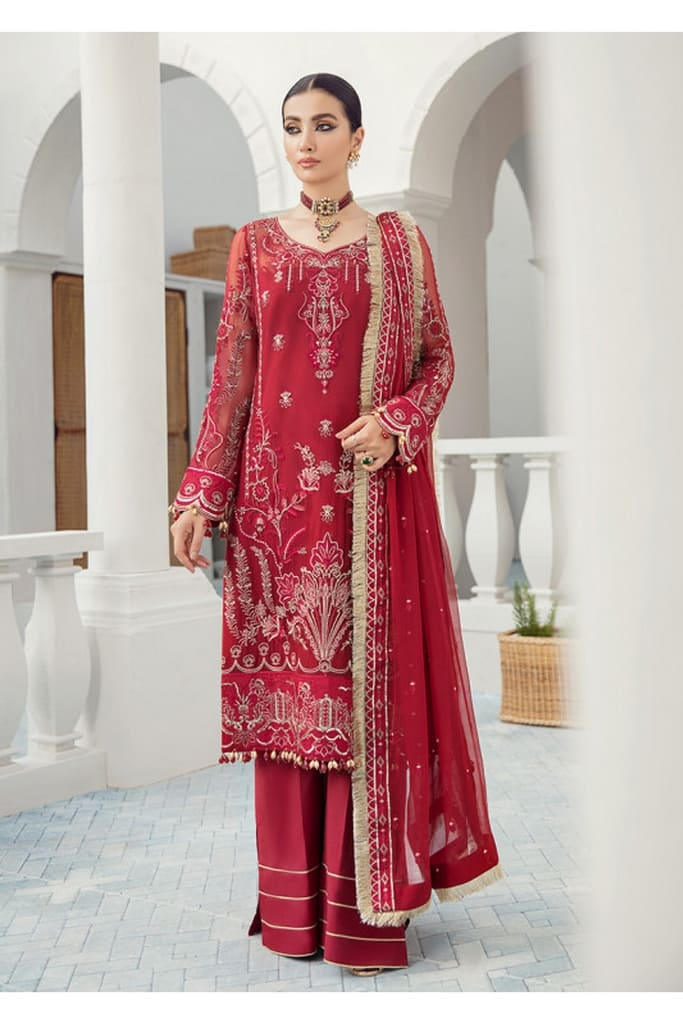 GULAAL | PREMIUM EMBROIDERED CHIFFON Collection'21 | Suit D-6