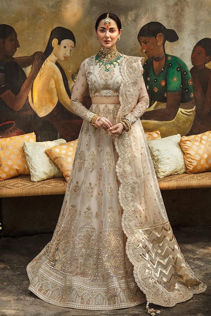 AFROZEH | SHEHNAI WEDDING Collection'21 | SHARAR-04