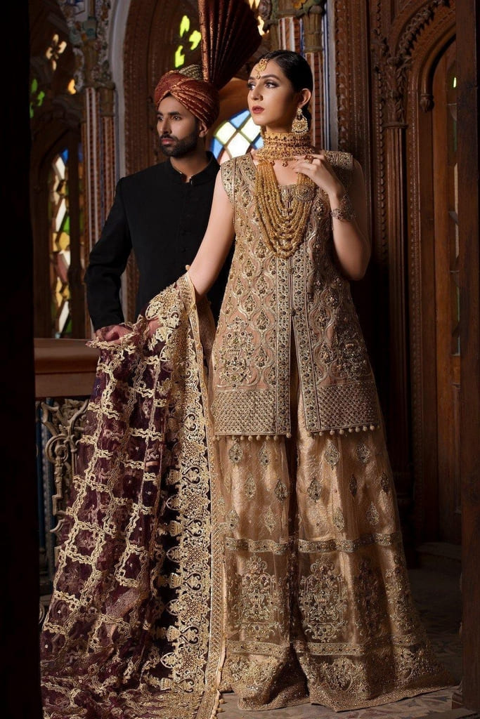 MARYUM N MARIA | BRIDAL DRESSES | Bridal Sharara – (C-01)